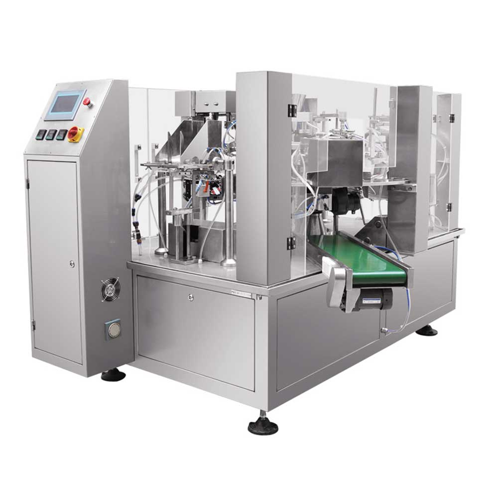 rotary premade pouch packaging machine