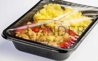 Ready-to-eat meals MAP packaging in pre-made trays