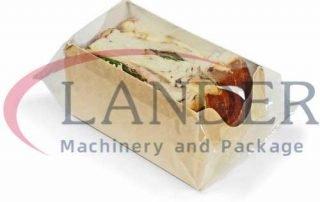 Sandwich in box packaging in HFFS flow wrapper